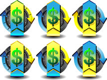 Dollaro del bottone Immagini Stock