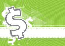Dollaro del fondo dei soldi Illustrazione di Stock