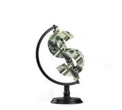 Dollaro del globo Fotografie Stock Libere da Diritti