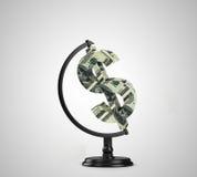 Dollaro del globo Fotografie Stock