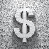 Dollaro del pixel Immagine Stock Libera da Diritti