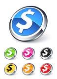 Dollaro dell'icona Fotografie Stock Libere da Diritti