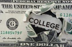 Dollaro dell'istituto universitario Fotografie Stock Libere da Diritti