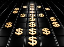 Dollaro dell'oro Immagini Stock