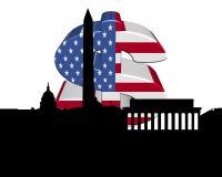Dollaro della bandiera americana del Washington DC royalty illustrazione gratis