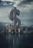 Dollaro della città di affari Fotografia Stock