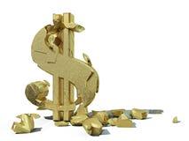 Dollaro della crepa Fotografia Stock Libera da Diritti