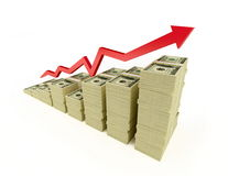 Dollaro della freccia Immagini Stock Libere da Diritti