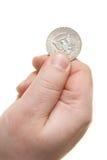 Dollaro della holding della mano Immagini Stock