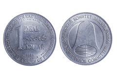 Dollaro della rublo Fotografie Stock Libere da Diritti