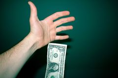 Dollaro di caduta Fotografie Stock