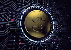 Dollaro di Digital Immagine Stock