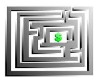 Dollaro di Labirinth Fotografie Stock
