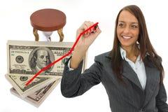Dollaro di progresso Immagine Stock