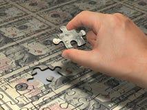 Dollaro di puzzle Fotografie Stock Libere da Diritti