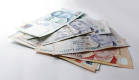 Dollaro di Singapore su fondo bianco Fotografia Stock Libera da Diritti