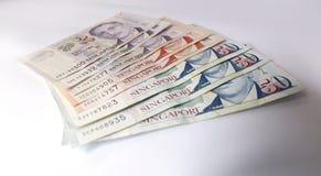Dollaro di Singapore su fondo bianco Immagini Stock Libere da Diritti