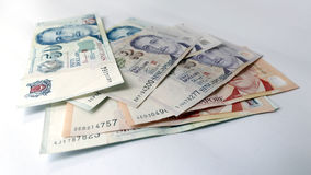 Dollaro di Singapore su fondo bianco Fotografie Stock