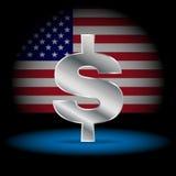Dollaro di valuta di simbolo Fotografia Stock Libera da Diritti