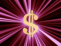 Dollaro di valuta di simbolo Immagini Stock