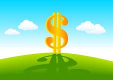 Dollaro dorato Fotografia Stock Libera da Diritti