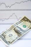 Dollaro e diagramma Fotografia Stock
