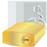 Dollaro e serratura Fotografia Stock Libera da Diritti