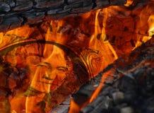 Dollaro in fiamme Fotografie Stock Libere da Diritti