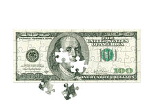 Dollaro - puzzle Fotografia Stock Libera da Diritti
