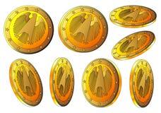 Dollaro realistico dell'oro con l'aquila Fotografia Stock Libera da Diritti
