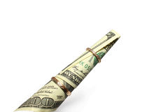 Dollaro rotolato Immagine Stock