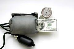 Dollaro sotto la pressione Fotografia Stock Libera da Diritti