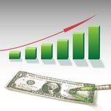 Dollaro-statistiche grafiche Immagine Stock