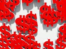 Dollaro su una priorità bassa bianca Fotografia Stock Libera da Diritti