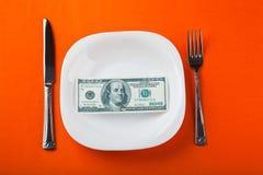 Dollaro sulla zolla Fotografia Stock Libera da Diritti