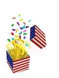 Dollaro un regalo illustrazione di stock