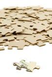 Dollaro US e puzzle Fotografia Stock Libera da Diritti
