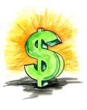Dollaro verde Fotografie Stock Libere da Diritti