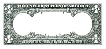 Dollaro vuoto Immagini Stock