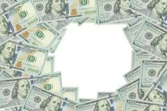 Dollarpengarbakgrund Fotografering för Bildbyråer