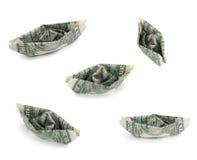 dollarpengarskepp oss Arkivbild