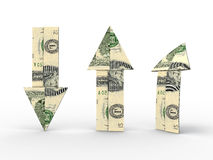 Dollarpfeile Stockbilder