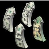 Dollarpfeile Lizenzfreie Stockfotografie