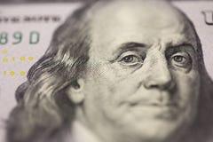 Dollarporträt Franklin Stockfoto