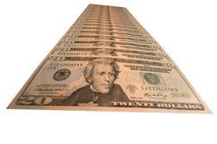 dollarpyramid Royaltyfri Bild