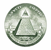 dollarpyramid arkivfoton