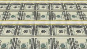 Dollarräkningar, pengarbakgrund lager videofilmer