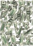 Dollarregen getrennt lizenzfreie abbildung