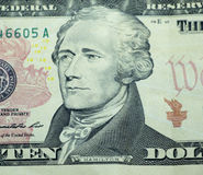 10 dollarrekening Royalty-vrije Stock Afbeelding