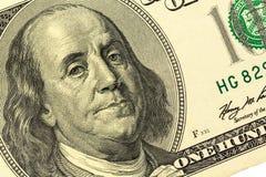 Dollarrekening, benjamin franklin Royalty-vrije Stock Fotografie